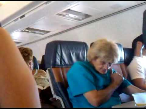 Old Lady on the Plane